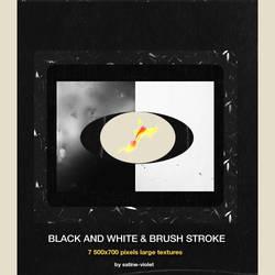 Black and White - Brush Stroke