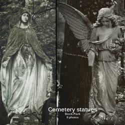 Cemetery statues stock pack