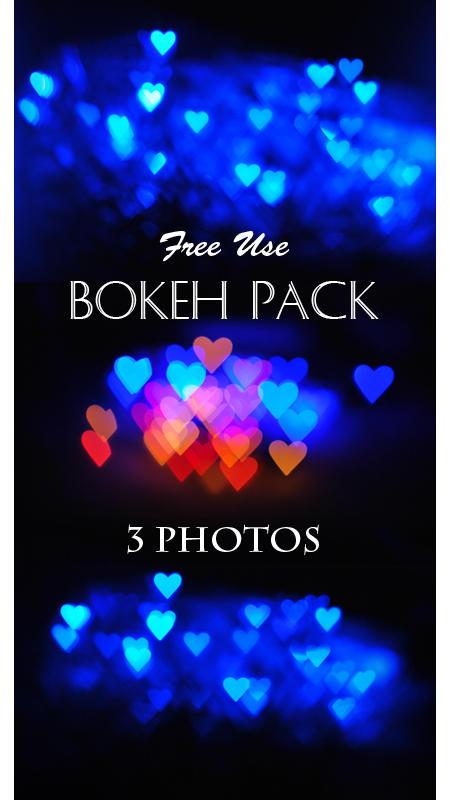 Heart shaped bokeh pack
