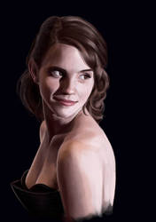 Speedpaint Workflow GIF : Emma Watson by Recklys