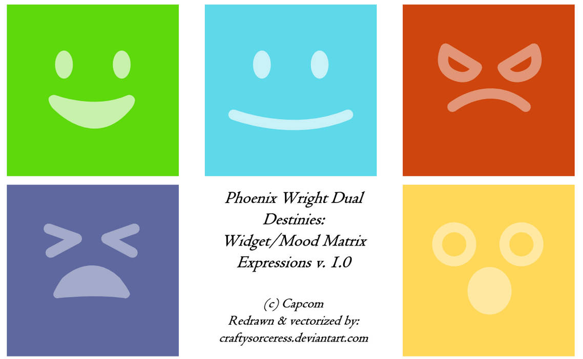 Widget Mood Matrix Expressions Icon Set By Craftysorceress On