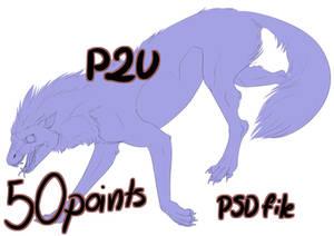 P2U Angry Wolf-monster