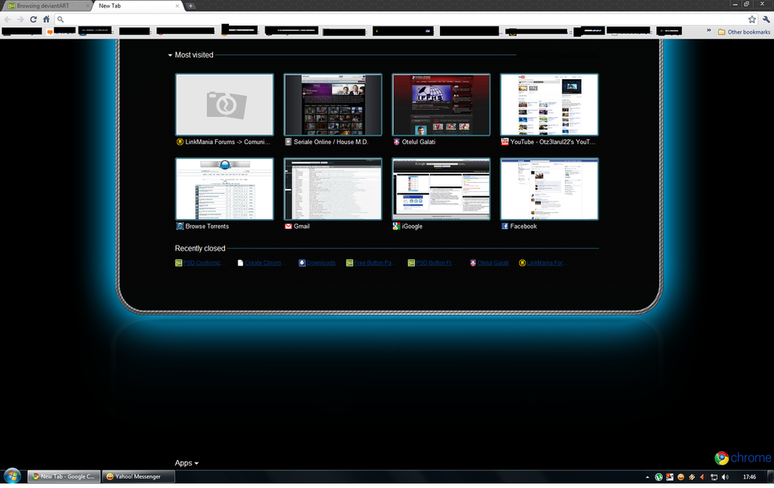 Google themes blue - Google Chrome Blue Theme By Otz3larul