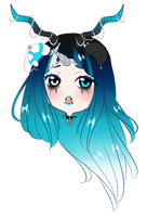 GIF chibi headshot commission for LacrimareObscura by AimiMay