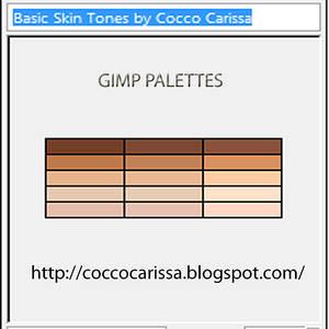 Basic Skin Tones GIMP palettes