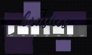 7 Paper Brush set