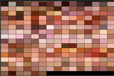 Skin Colour by Ethnicity Palette for gimp by sallyannester