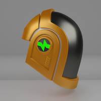 Commission: Daft Punk Glatorian Helm 1 by 0nuku