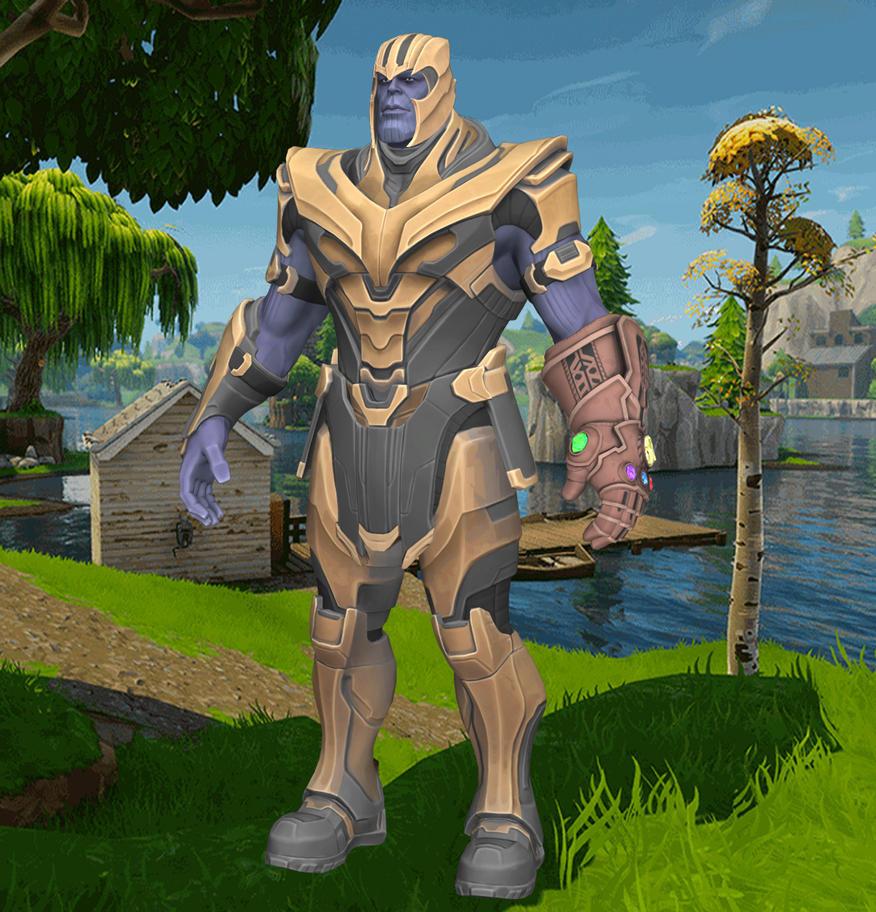 Fortnite Battle Royale Thanos (XNALara model) by chutesto12new