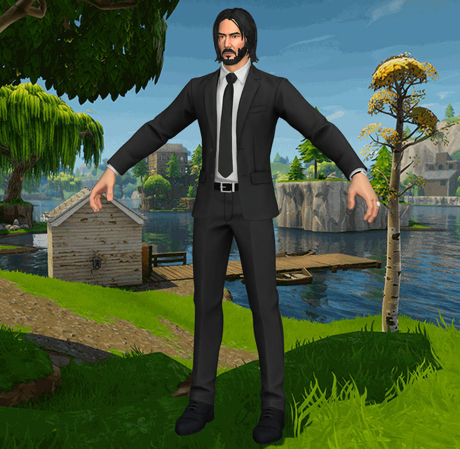 Fortnite Battle Royale John Wick (XNALara model) by ...