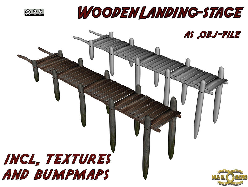 Wooden Landingstage, .obj-file by ancestorsrelic