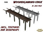 Wooden Landingstage, .obj-file