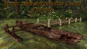Dugout Canoe as .OBJ