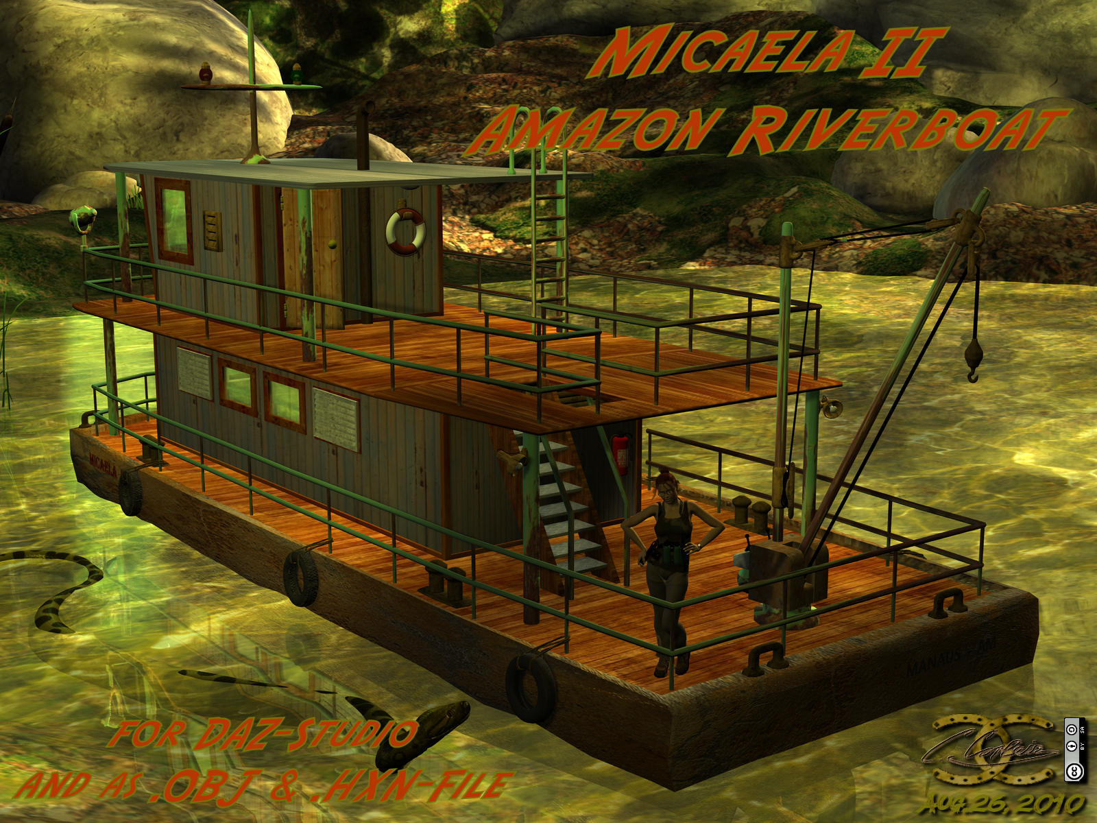 Riverboat as .OBJ and for Poser/DAZ-Studio by ancestorsrelic
