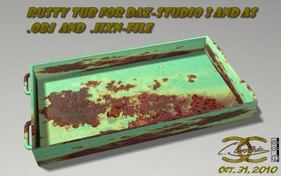 Rusty tub for DAZ and as .OBJ