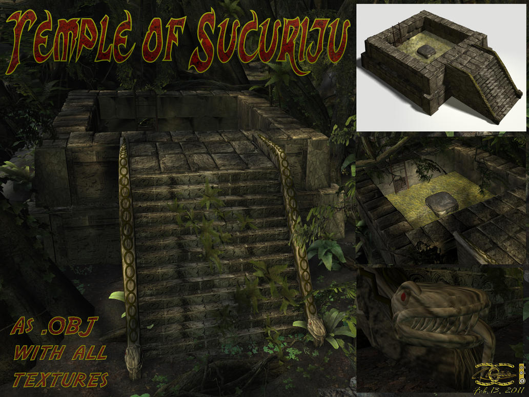 Temple of Sucuriju (.OBJ-file) by ancestorsrelic