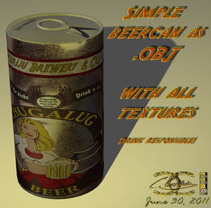 Beercan as .OBJ