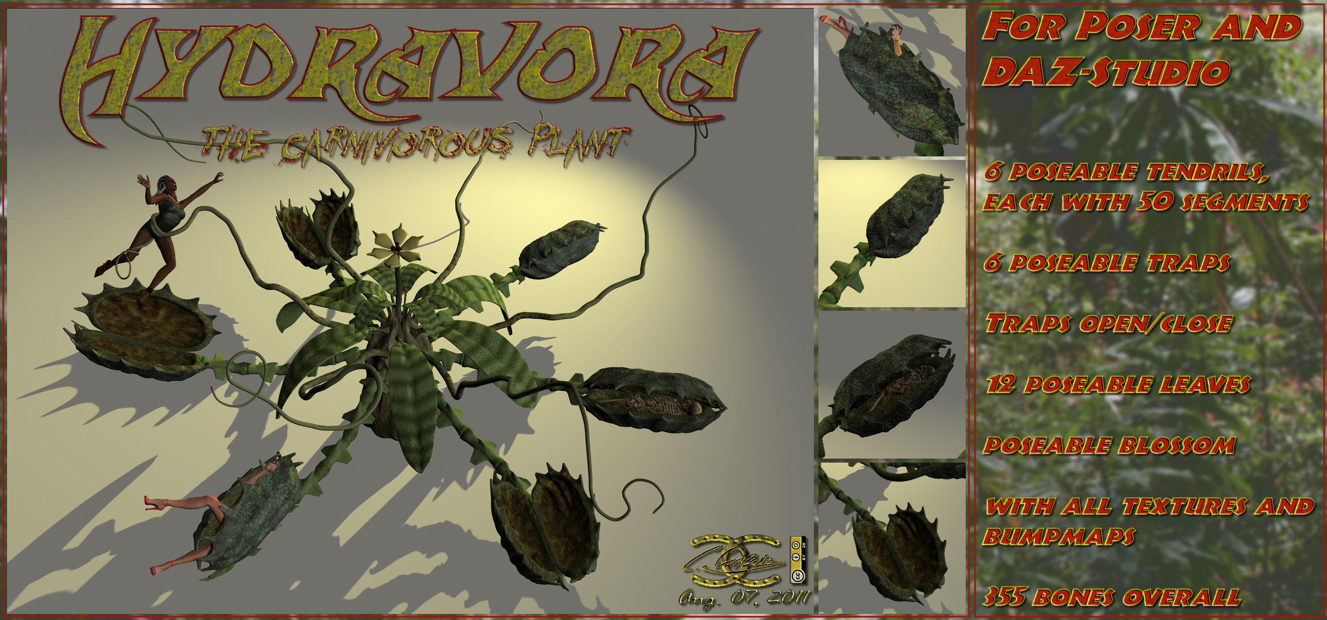 Carnivorous Plant for Poser by ancestorsrelic