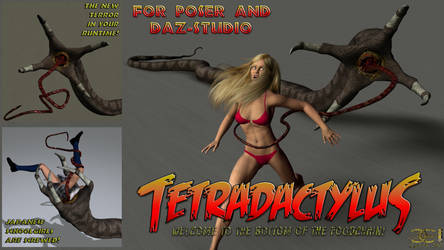 Tetradactylus for Poser and DS