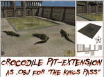 Crocodile Pit-Extension as OBJ for The Kings Pass