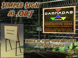Simple sign as OBJ by ancestorsrelic