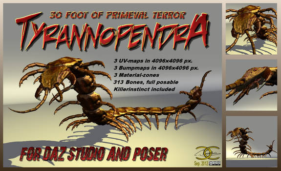Tyrannopendra for DAZ-Studio and Poser