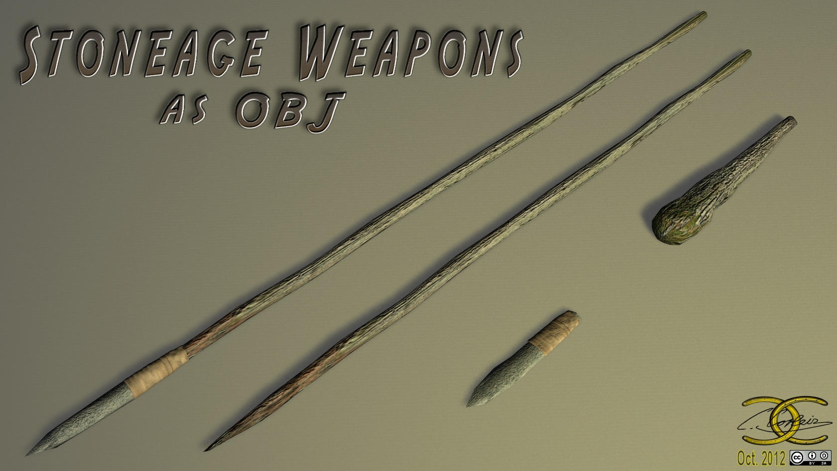 3d Designs Stoneage Weapons As Obj By Ancestorsrelic On Deviantart