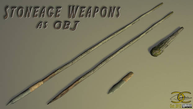 Stoneage Weapons as OBJ