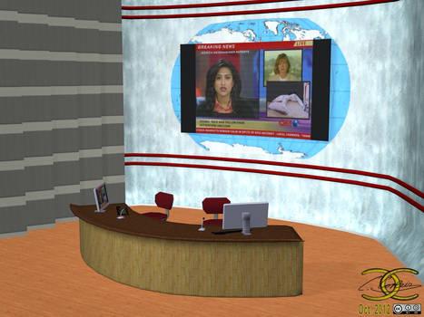 TV-Studio/Newsroom as OBJ