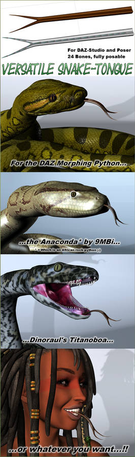 Snake-Tongue for Poser/DAZ-Studio