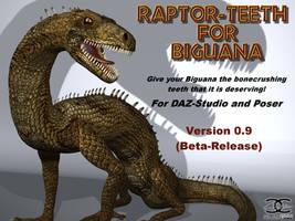 Raptor-Teeth for DAZ Biguana Lizard by ancestorsrelic