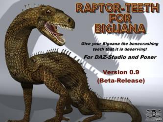 Raptor-Teeth for DAZ Biguana Lizard