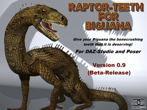 Raptor-Teeth for DAZ Biguana Lizard