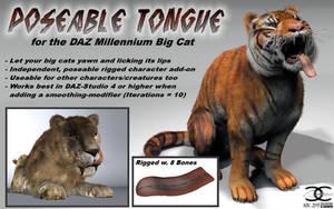 Big Cat-Tongue for DAZ MilBigCat by ancestorsrelic