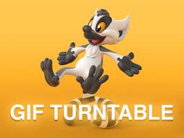 Kiki the Lemur turntable of 3D Print