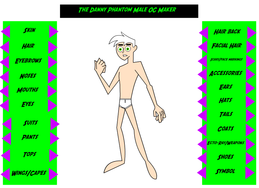 Male Danny Phantom Oc Maker V1 By Creators Paradise On Deviantart