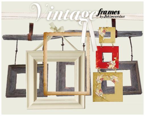 vintage frames PNGS by SublimeArtDusT