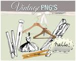 vintage clothes pins+ PNG