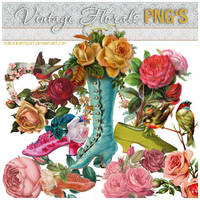 vintagefloral PNG pk by SublimeArtDusT