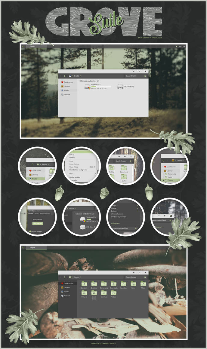 GROVE Windows 10 theme by niivu on DeviantArt