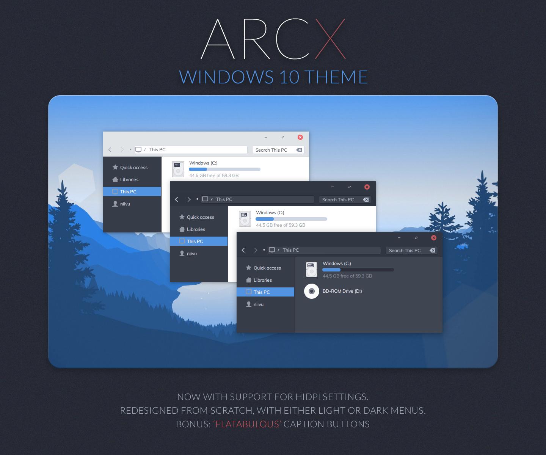 ARC X Windows 10 Theme by niivu