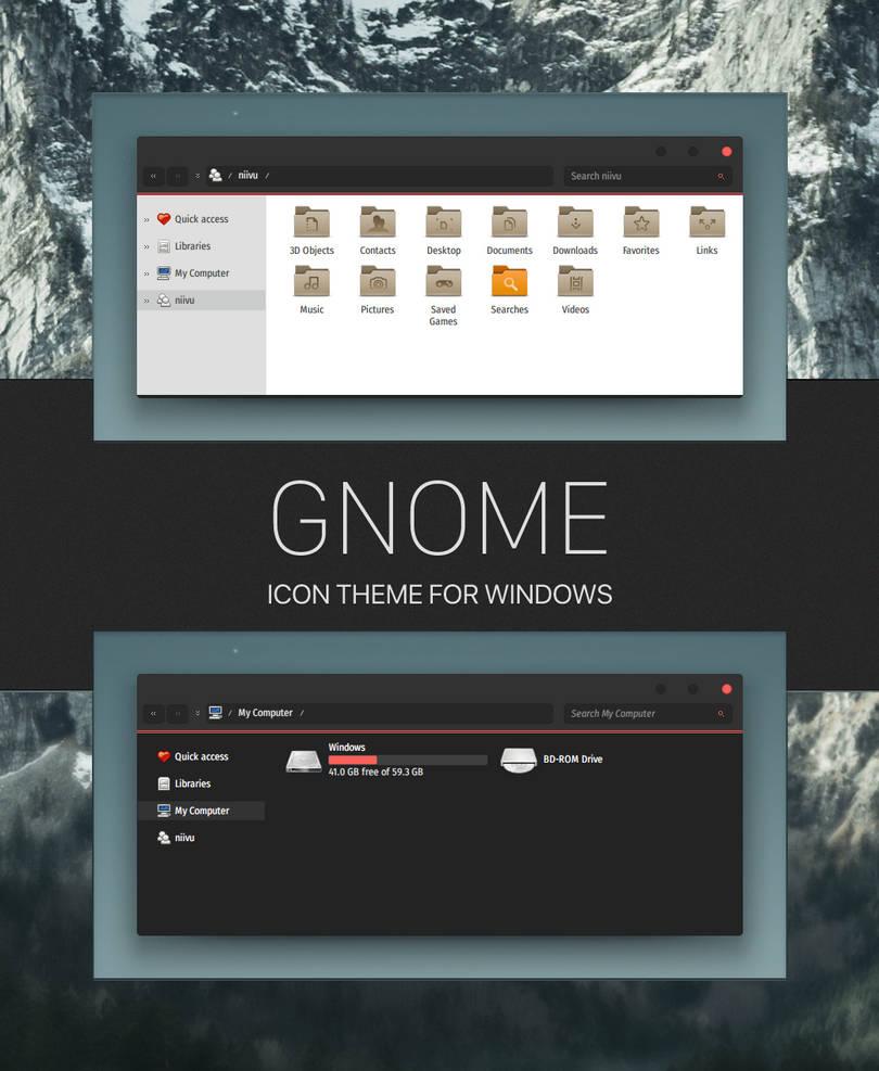 Gnome-icon-theme by niivu on DeviantArt