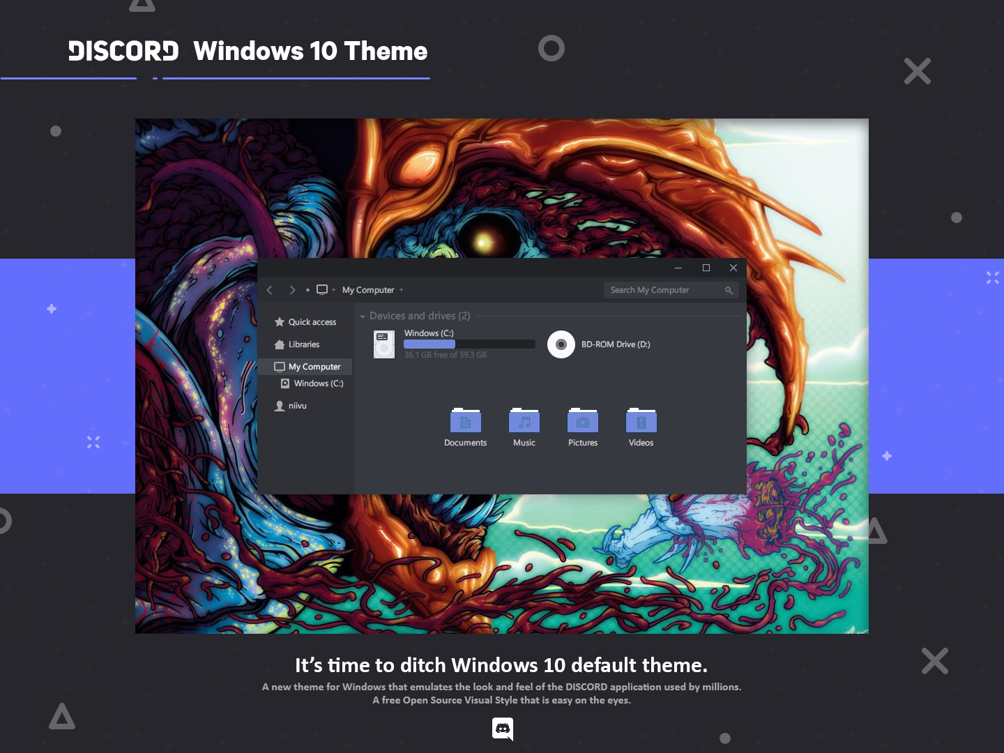 Discord Theme for Windows 10 by niivu on DeviantArt