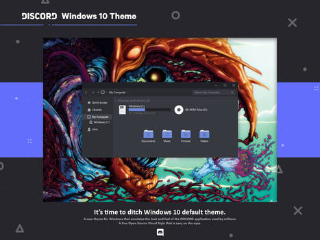 Discord Theme for Windows 10 by niivu