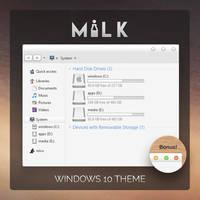 milk windows 10 Theme