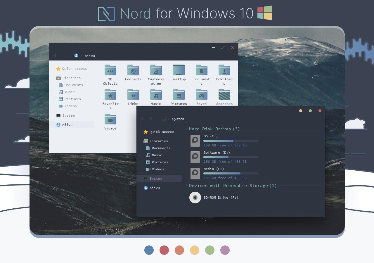 Nord Windows 10 Theme