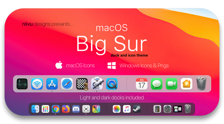 Big Sur - Docks and Icons