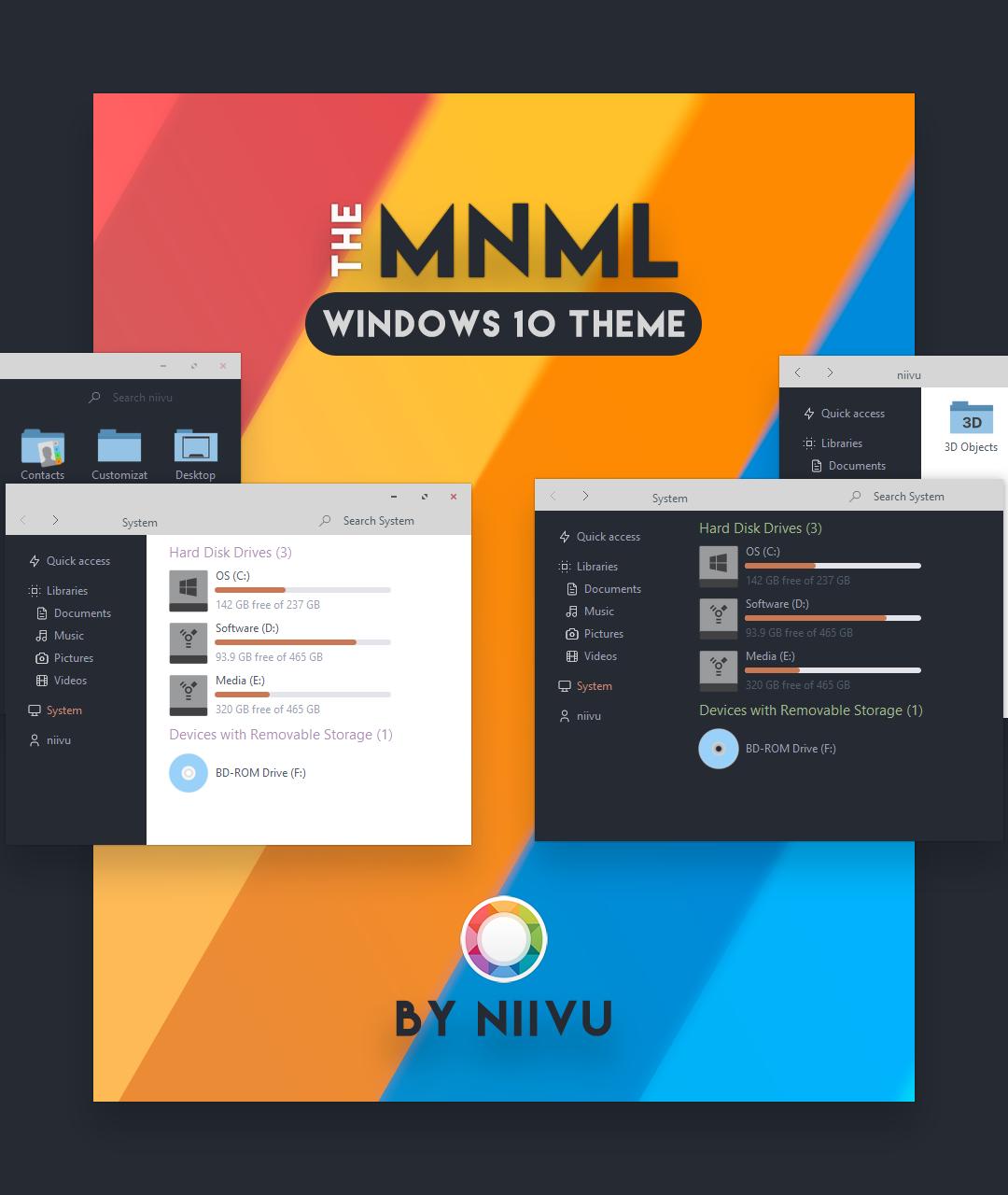 The MNML for Windows 10