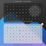 Fluent Keys Icon Theme by niivu
