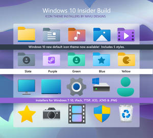 Windows 10 Insider Preview Icon Theme